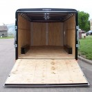 101 Series V-Nose Tandem Axle Cargo Trailer inside