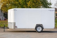 V-Nose Single Axle Cargo Trailer side
